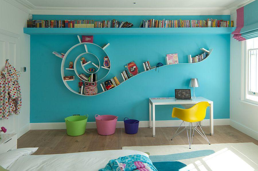 Kids Room ... fabulous bookworm bookshelf in the modern kidsu0027 room [design: de hasse] UQNGWIW